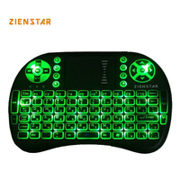 Russia Mini 2 4GHz Wireless Keyboard With 3 Color Backlit Air FLY Mouse Remote Control Touchpad