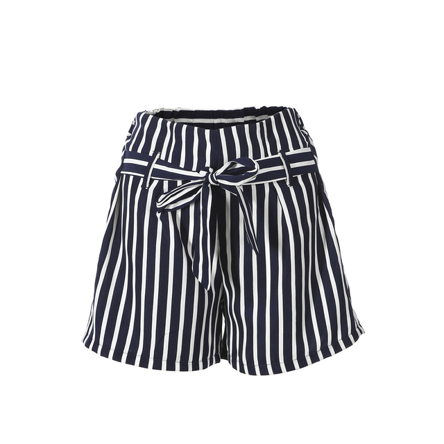 4ca283369a US $4.69 6% OFF Fashion Women Hot Pants Summer Casual Loose Striped Shorts  Bow Beach High Waist Short Trousers-in Shorts from Women's Clothing on ...