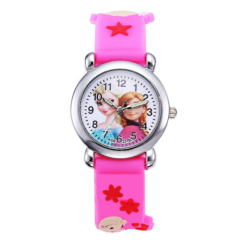 JOYROX Children Wrist Watch Princess Elsa Cute Silicone Kid Watches Gift Child Cartoon Watch Quartz Clock Relojes Relogio