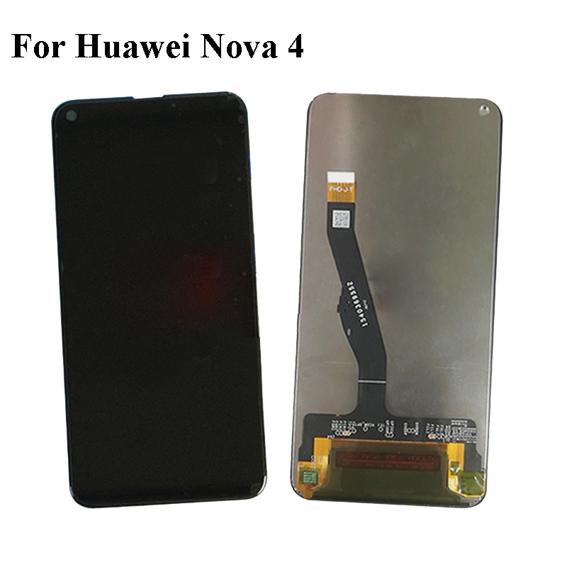 Купить Черный ЖК-дисплей + TP Для huawei Nova 4 ЖК-дисплей Дисплей с Сенсорный экран планшета смартфон Замена для huawei Nova4 VCE-AL00/TL00 на Алиэкспресс