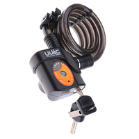 Bike Lock Anti theft Alarm Bicycle Cable Locks with Mounting Bracket and 2 Keys