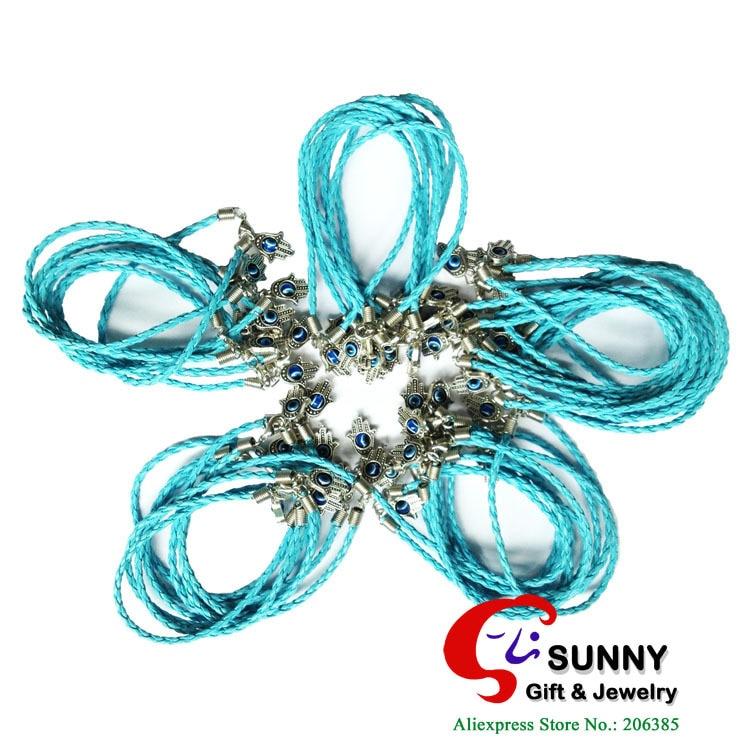 "Fashion ""Evil Eye"" HAMSA Bracelets BLUE String Kabbalah Lucky Eye Charm string Jewelry ,. - Sunny Gift & Store store"