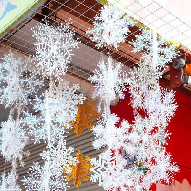 unids ud pack blanco copos de nieve de navidad adornos de navidad rbol de