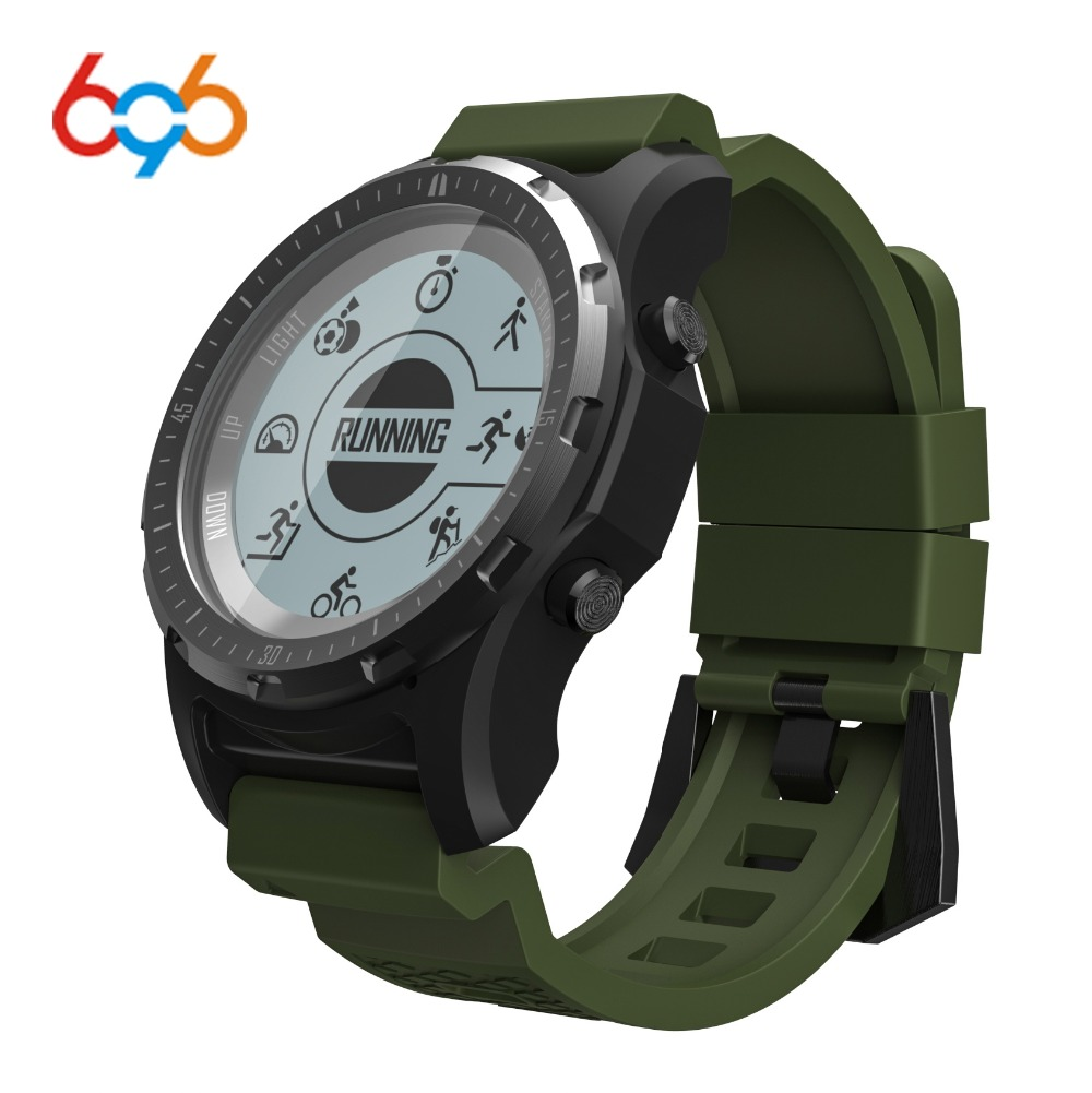 696 S966 GPS Smart Watch IP67 waterproof Smartwatch Heart Rate Monitor Temperature Multi-sport Men Compass Running Sport Watch makibes br2 smart watch men gps smartwatches electronic compass heart rate monitor multi sport dynamic optical sports watch