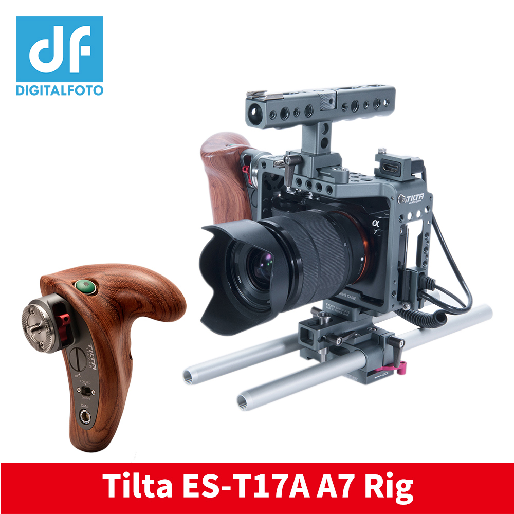 NEW Tilta ES-T17A A7 Rig A7S A72 A7R A7R2 Rig Cage + Baseplate +NEW Wooden Handle For SONY A7 series camera TILTA ES-T17-A digitalfoto tilta a7 professional dslr camera rig cage with baseplate wooden handle top handle for sony a7 a7s a7s2 a7r a7r2