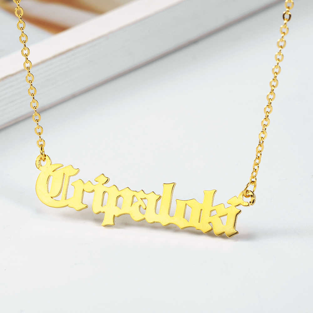 Steel Personalized Namenecklace Custom Necklace For Women Custom Name Necklace Customized Jewelry Gift for Her Dropshipping