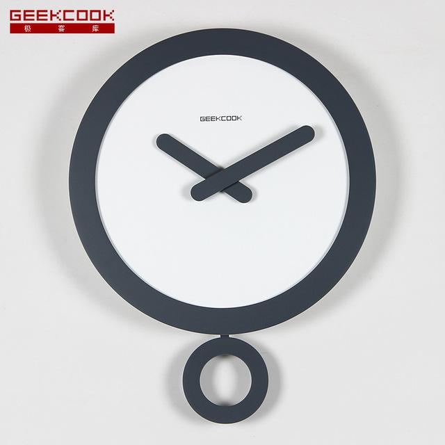 35CM Saat Metal Wall Clock  Reloj Clock Relogio de parede Duvar Saati Mute Swing Wall Clocks Horloge Murale Klok Home Decoration