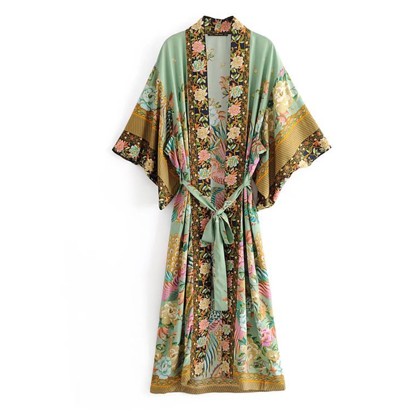 Abaya Caftan Dubai Kaftan Islam Women Floral Muslim Kimono Cardigan Hijab Dress Abayas For Women Turkish Elbise Islamic Clothing