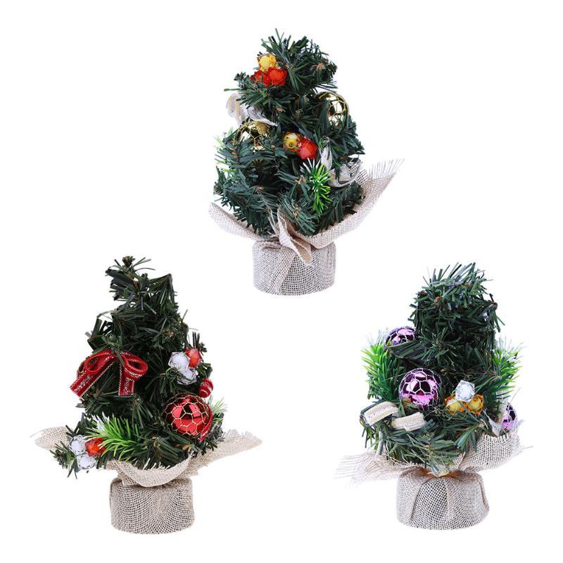 Online Shop 20cm Mini Christmas Tree Ornament Home Office Desk - mini christmas tree decorations