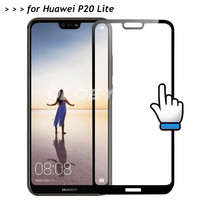 For Huawei P20 Lite Full Cover 3D Screen Protector 9H Tempered Glass Covering Protective Film On