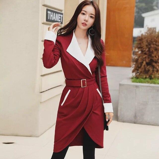 Fashion elegant slim high quality women dress new arrival korean party  dress OL sexy v- f82fd7b4b129