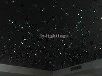 RGB color change optic fiber light kit 35w led light source+fibre pack wireless RF remote starry sky optical ceiling light