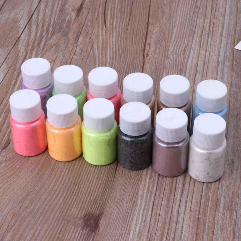 Perlescente Mica Pigmenti In Polvere Arcobaleno UV Resina Epossidica FAI DA TE Monili Che Fanno