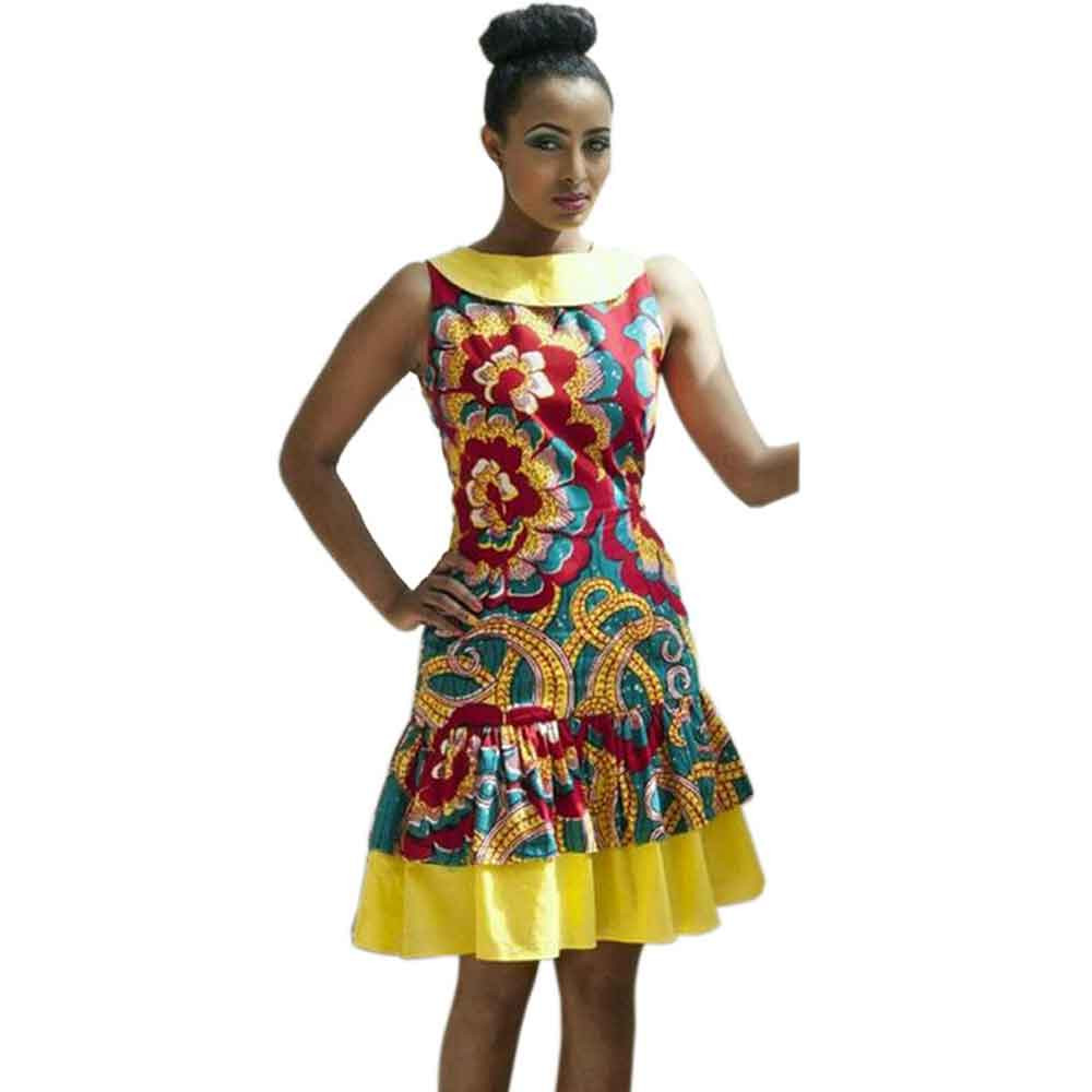 2017 Y African Dresses For Women Summer Traditional Print Sleeveless Folk Art Las Clothing In From S