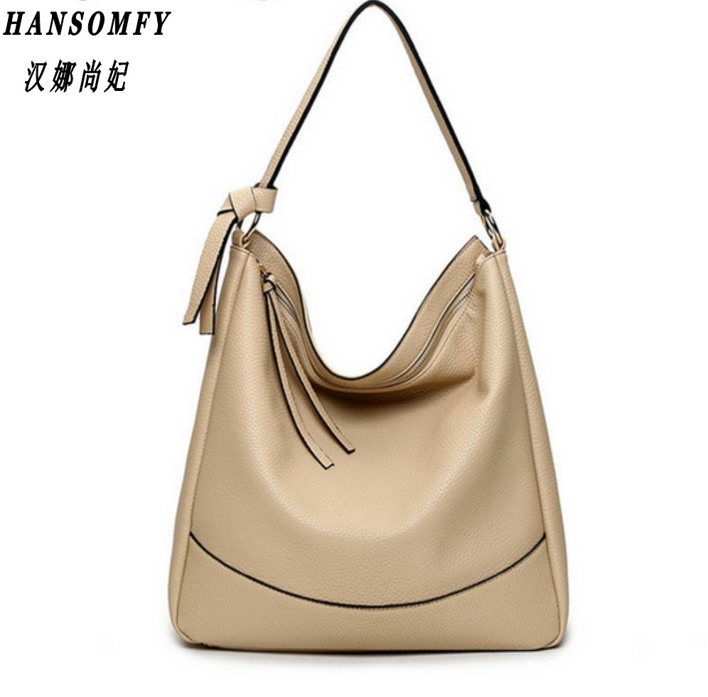 Han 100% Genuine Leather Women Handbags 2017 New All-match Diagonal Shoulder Fashion Handbags Shoulder Messenger Handbag