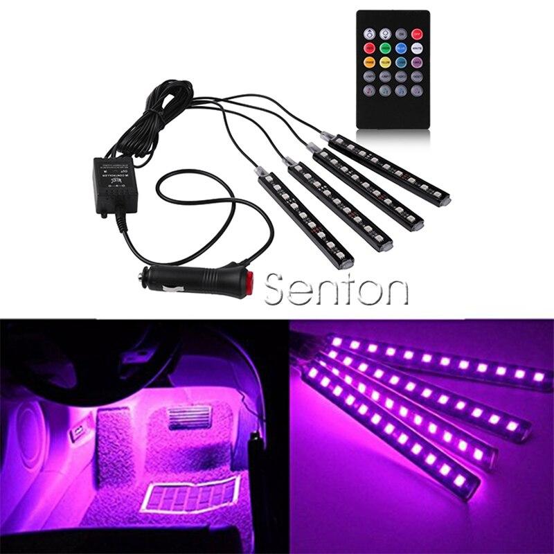 1Set Interior Car LED Neon Lamp For Mini Cooper Kia Ceed Hyundai Solaris Subaru Volvo Audi A3 Seat Leon Honda Civic Accessories