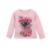 Nova Moda 2017 Roupas Boutique Define Para Crianças Cute Girl imprimir Manga Longa Floral Shirts Tops + Saias Tutu Define Com Arco roupas