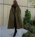 [XITAO] 2016 South Korea Original Simple Solid Wind Cloak Style Oversize Long Form Female Thicked Winter Wool Coat, SYA-001