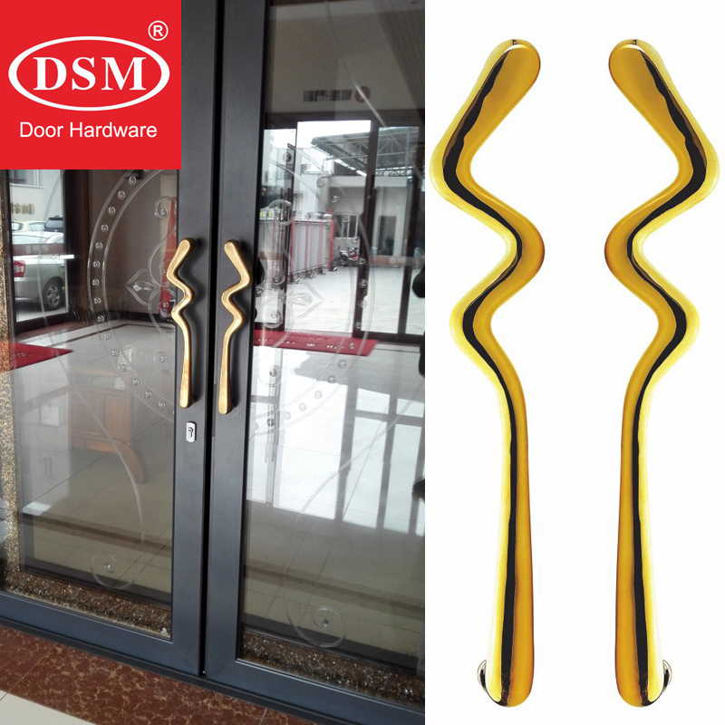 European Style Entrance Door Handle Solid Antimicrobial Copper Cu+ Pull Handles PA 308 L505mm For Wooden/Frame/Glass Doors entrance door handle door handle door handle styles - title=