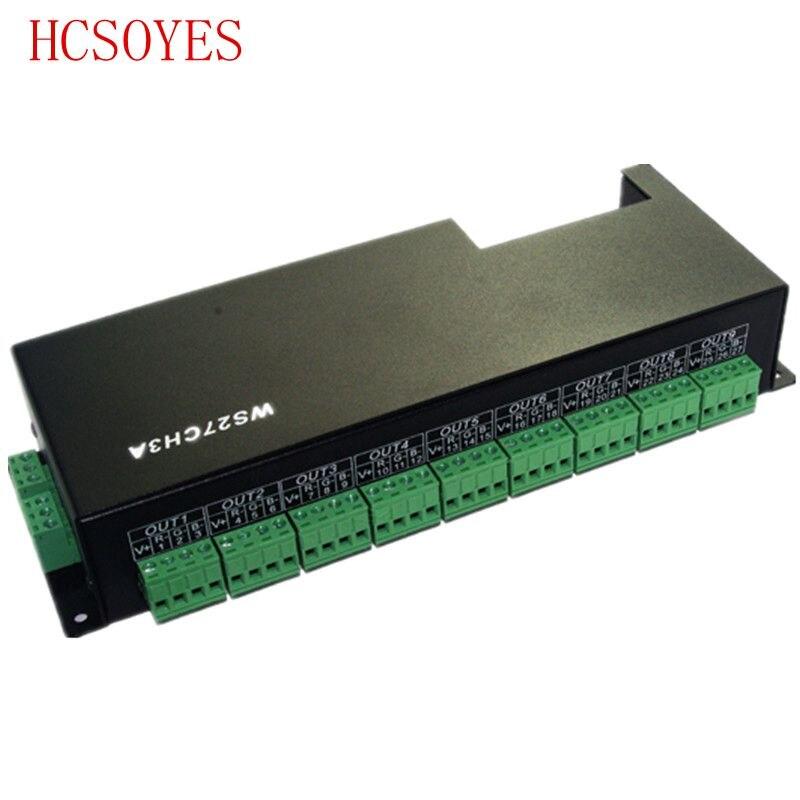DC 12-24V 27 channel 9 group dmx 512 led decoder RGB controllerDC 12-24V 27 channel 9 group dmx 512 led decoder RGB controller
