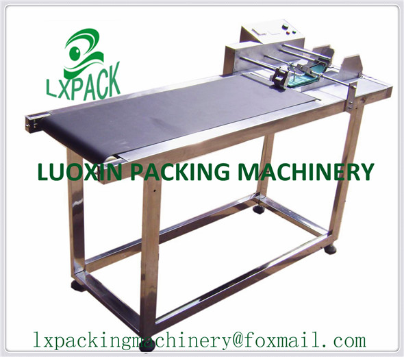 LX-PACK Lowest Factory Price Inkjet Printer Conveyer Conveying Belt Table Band Carrier For Bottles Box Bag Sticker Shelf Stand lx pack lowest factory price pagination conveyor page machine for inkjet printer paging machine page separating machine stand