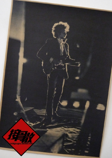 Bob Dylan Folk Poet Retro Kraftpapier Alten Plakat Kunst Rock And ...