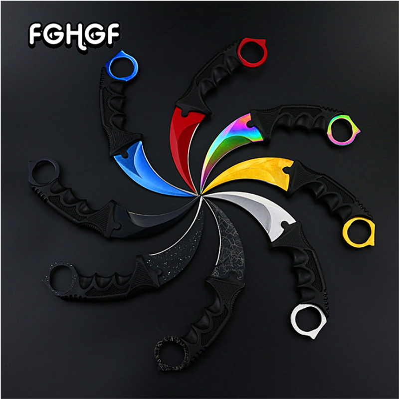CS GO Counter Strike Claw marble fade knife Sheath hunt camp tactical fight survive combat self defense Defense Stinger hawkbill