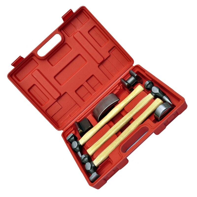 Nieuwe Stijl Generieke 7 st Auto Auto Carrosserie Body Kloppend Beater Dent Reparatie Tool Kit Hamer Set - 3