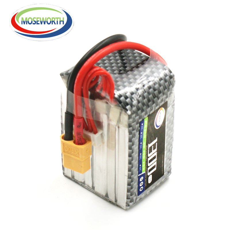 MOSEWORTH 6S RC LiPo Battery 22.2v 1300mAh 30C-60C For rc Airplane Helicopter Drone Li-Polymer batteria AKKU Free shipping 11 1v 1300mah 14 43wh lithium polymer battery for yuneec breeze drone
