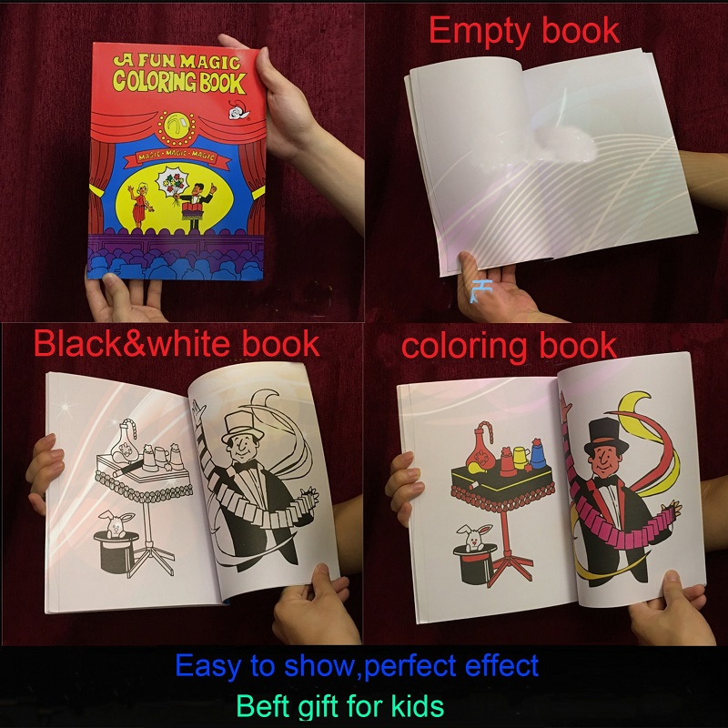 Free Shipping Large Size Funny Coloring Book Comedy Magic Books Close Up Street Tricks Grimoire Spellbook Child Puzzle Toy In From Toys