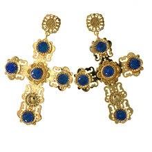 Baroque Earrings Best Selling Statement Diamond Purple Blue Amethyst Tassels for Jewelry Indian Jewellery Women Summer