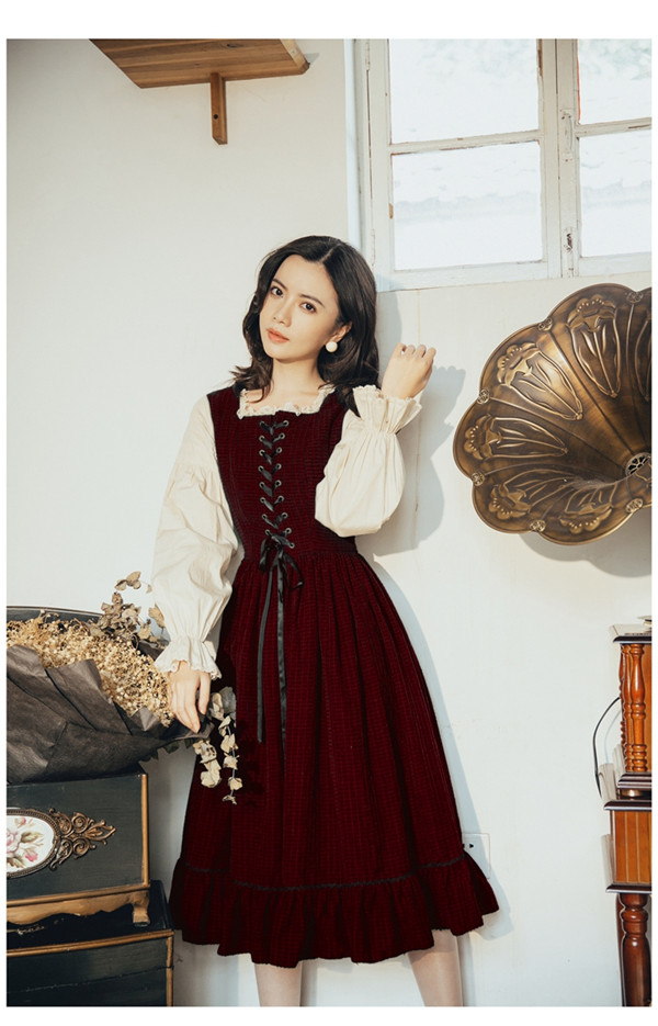 2019 Autumn Dress New Vintage Dress Fake Two-Piece Slim Dress Long Butterfly Sleeve French Fashion Style Holiday Dress 8