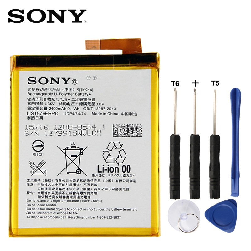 SONY Battery For Replacement LIS1576ERPC 2400mah Original E2303 Aqua M4
