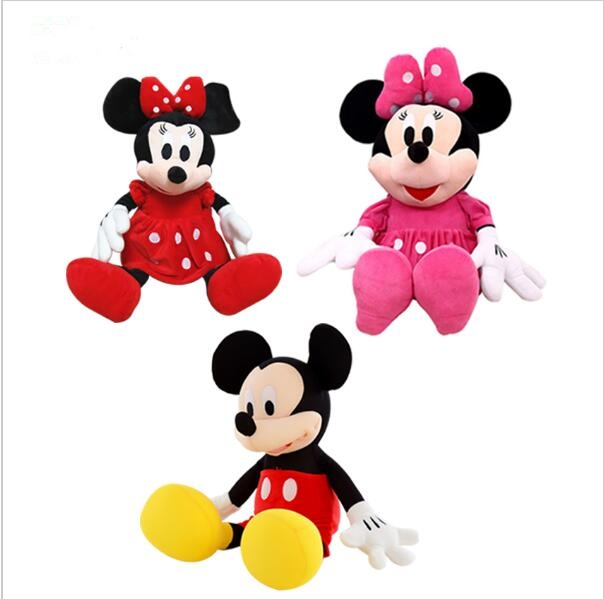 1pcs New arrival Hot sale 70cm Mickey & Minnie Mouse Stuffed Animals Plush Toys For Children's Gift hot sale 12cm foreign chavo genuine peluche plush toys character mini humanoid dolls