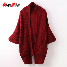 d3cd350ae9 Garemay Long Cardigan Women Winter Autumn Ladies Cardigans For Middle Aged Women  Knitted Long Oversized Cardigan With Pockets