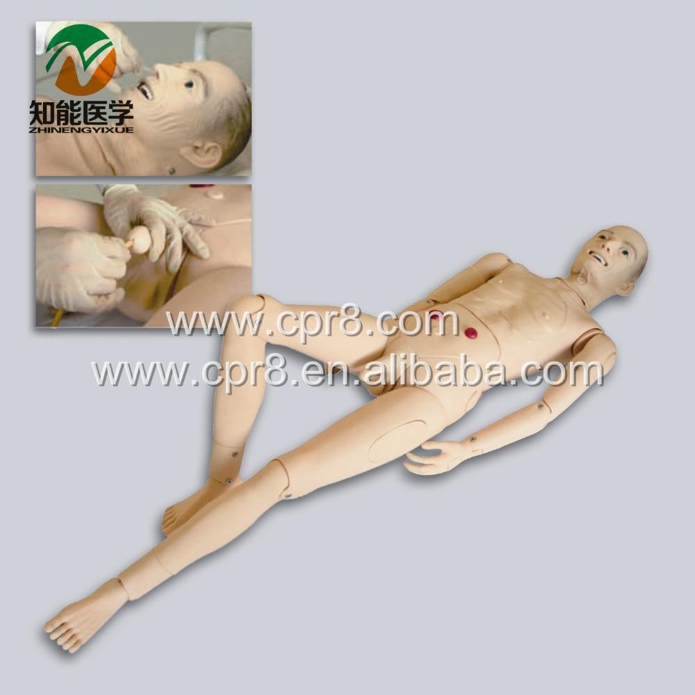 BIX-H220A Advanced Full-Featured Aged Nursing Manikin (Male) W195 bix h2400 full function nursing training manikin have blood pressure measure nursing simulator wbw072