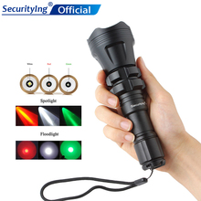SecurityIng Hunting Flashlight XM-L2 U4 Red / Green White Led 900LM 5 Modes Zoomable Waterproof Torch + Remote Pressure Switch