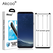 Akcoo S8 Screen Protector full glue version for Samsung Galaxy S8 S9 Plus full adhesive Case Friendly tempered glass Screen Flim