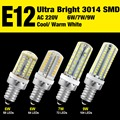 Ultra Bright 3014 SMD E14 AC220V Cool Warm White LED Corn Lamp Bulb Efficent 6W 7W 9W EB8101