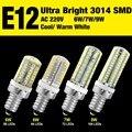 Ultra Bright 3014 SMD E14 AC220V Legal Warm White LED Milho Bulbo Da Lâmpada Eficiente 6 W 7 W 9 W EB8101