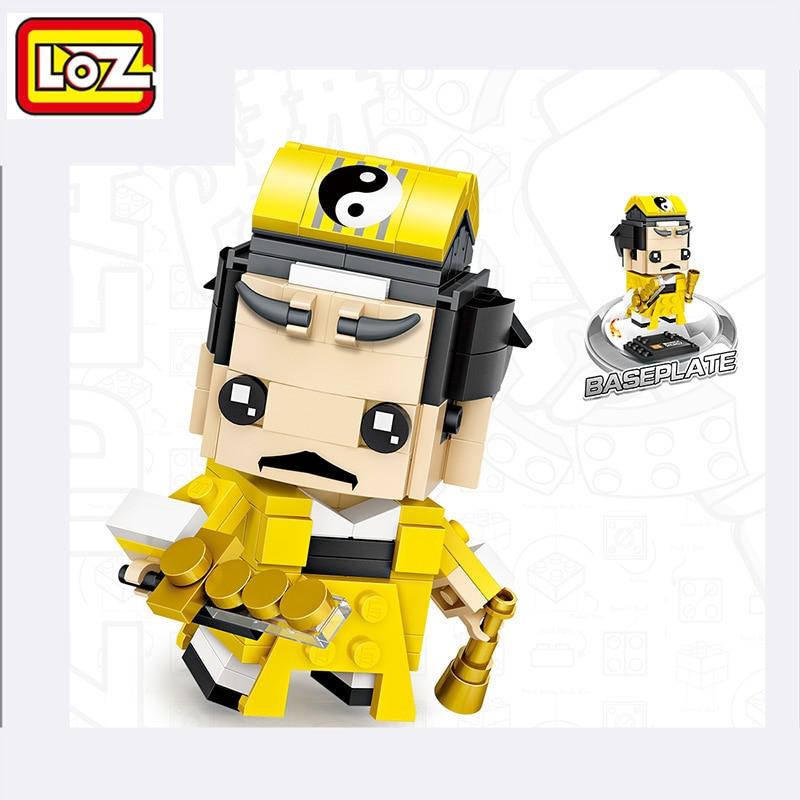 LOZ Chinese Zombie Mini Heads Figures Blocks DIY Assembly Model Self- Locking Bricks Playmobil Toys for Children Marvel