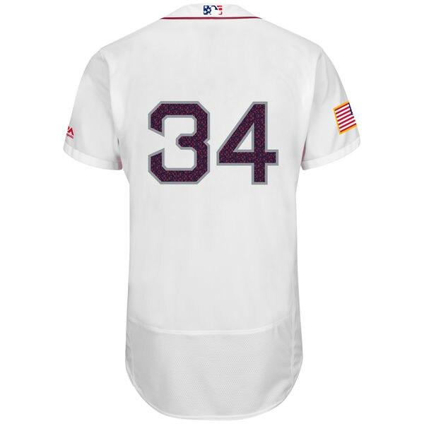 d0ff09259d1 ... MLB Mens Boston Red Sox David Ortiz White Fashion Stars Stripes Flex  Base Player Jersey on ...
