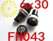 FH043 6*30mm 10A 250VAC Black Fuse Holder x20pcs Free shipping