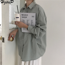HziriP Women Blouses 2019 Spring Solid Blouse Loose Casual V