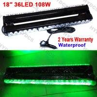 CYAN SOIL BAY 18 36 LED Double Side Emergency Beacon Warning Flash Strobe Light Bar Green