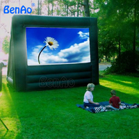 M013 Free Shipping Hot Sale Inflatable Movie Screen Outdoor Inflatable Screen For Cinema With Pump