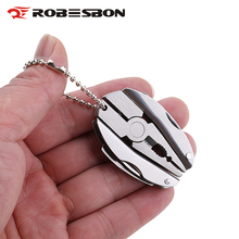ROBESBON Brand Mini Multi-function plier Outdoor tools Portable Folding Camping Tools Stainless Steel Foldaway Knife Screwdriver