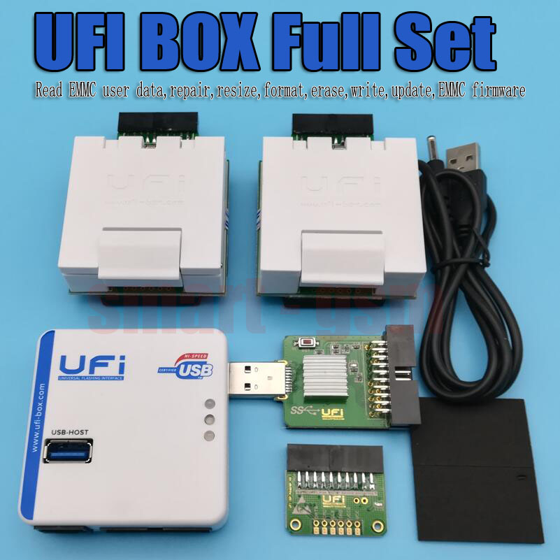 RUIAO UFI BOÎTE UFi Boîte puissant MEM Service Outil Lire MEM données utilisateur, réparation, redimensionner, format, effacer, écrire mise à jour firmware MEM