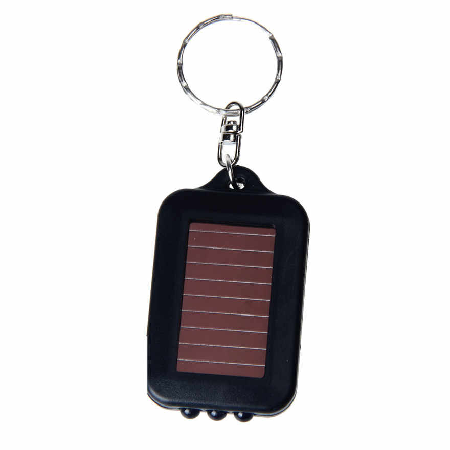 Mini LED Flashlight Keychain Portable Key Light Torch Key Chain 3 LED Emergency Camping Lamp backpack light #1218 A1#
