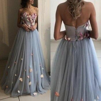 Trendy Long Evening Dresses abiye gece elbisesi Tulle Evening Formal Dress Sweetheart abendkleider robe longue Evening Gown